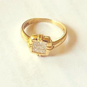 LeVian Diamond and Yellow Gold Ring